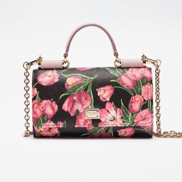 99bcf7abbd Dolce   Gabbana St Dauphine St Tulip Mini Von Bag